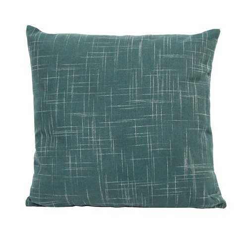 Teal Tweed Pillow