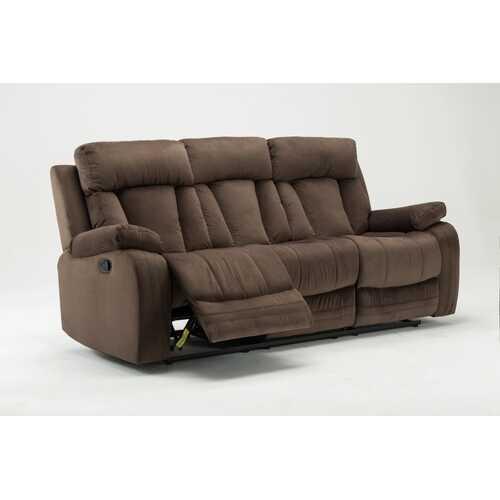"""40"""" Modern Brown Fabric Sofa"""