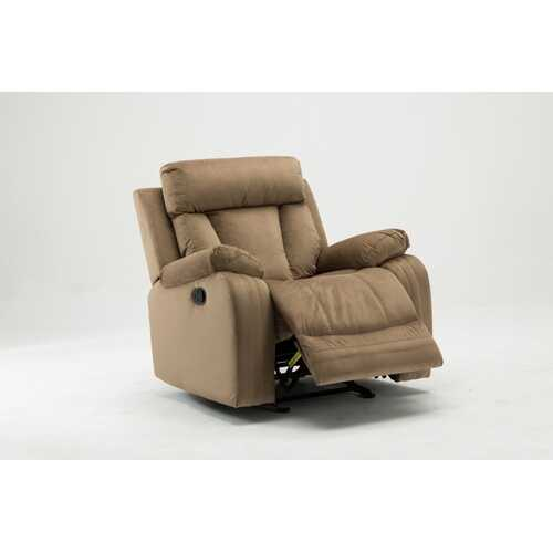 "40"" Modern Beige Fabric Chair"