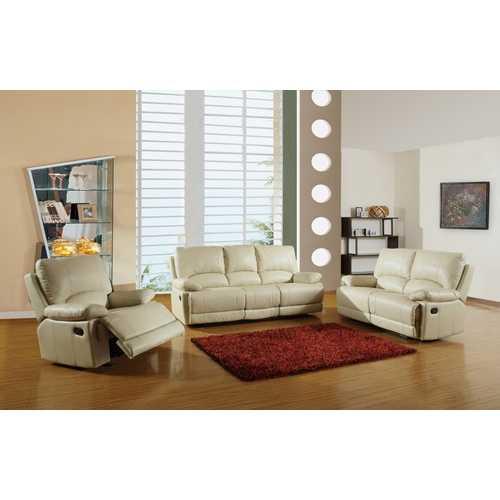 """165"""" Stylish Beige Leather Sofa Set"""