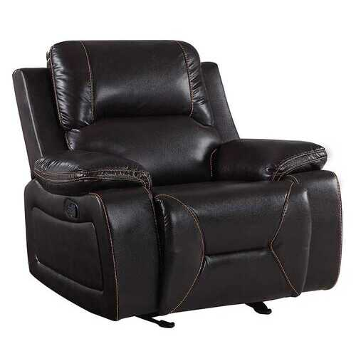 "40"" Brown Classy Leather Reclining Chair"