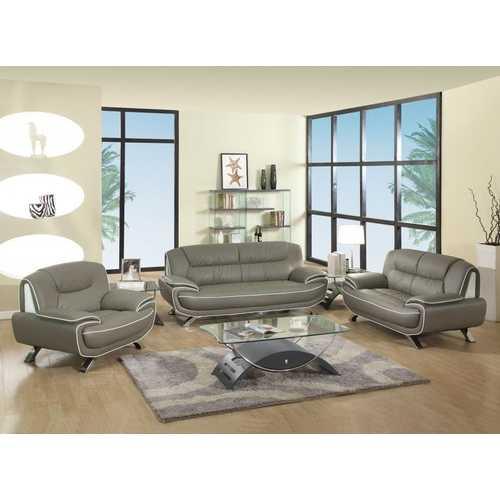 "110"" Sleek Grey Sofa Set"