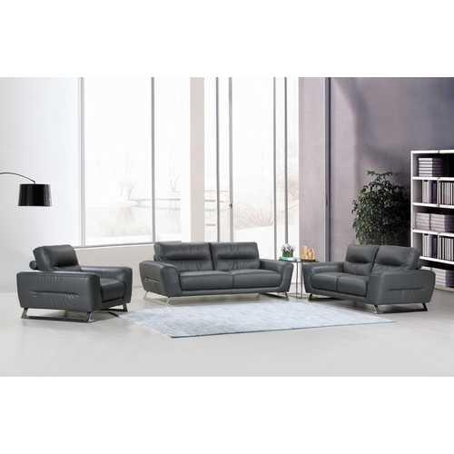 "102"" Lovely Dark Grey Couch Set"