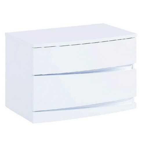 """16.5"""" Exquisite White High Gloss Nightstand"""
