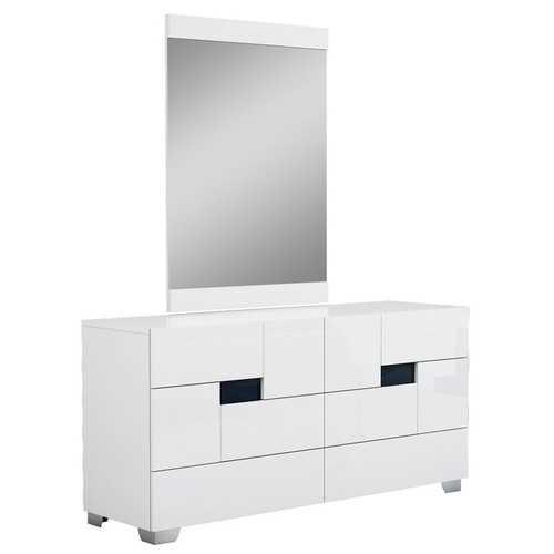 "30"" Superb White High Gloss Dresser"