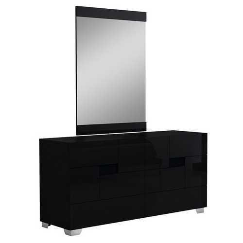 "30"" Superb Black High Gloss Dresser"