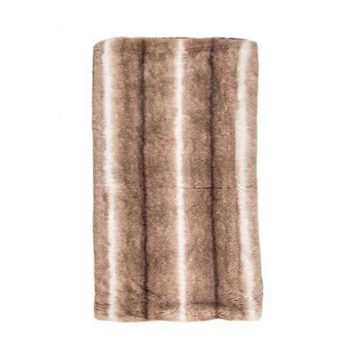 "Faux Fur Throw 50"" X 60"" - Faux Rabbit Taupe"