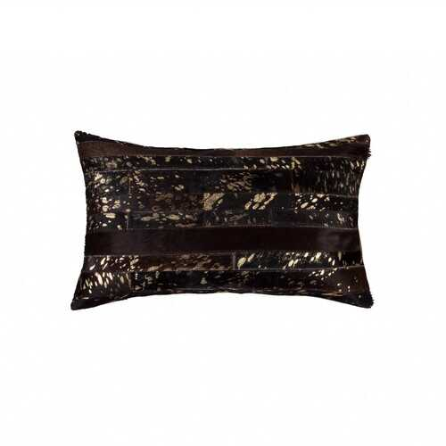 "12"" x 20"" x 5"" Chocolate & Gold - Pillow"