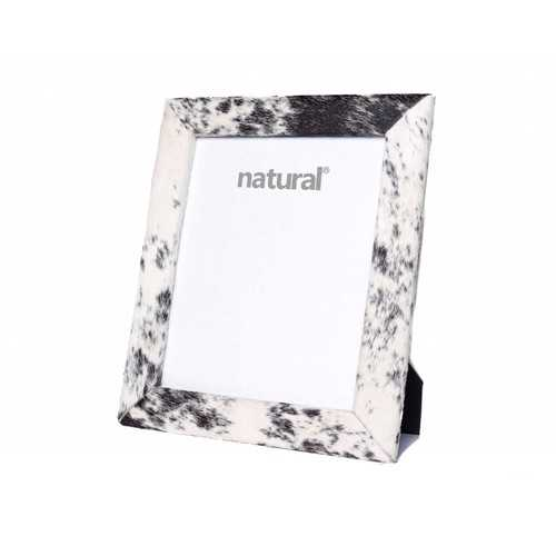 """11"""" x 13"""" Black/White, Cowhide - 8"""" x 10"""" Picture Frame"""