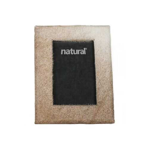 """11"""" x 13"""" Natural Cowhide - 8"""" x 10"""" Picture Frame"""
