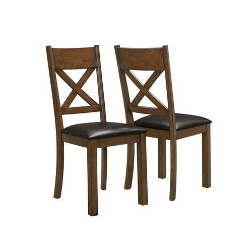 "18"" x 21"" x 40"" Walnut - Dining Chairs 2pcs Set"