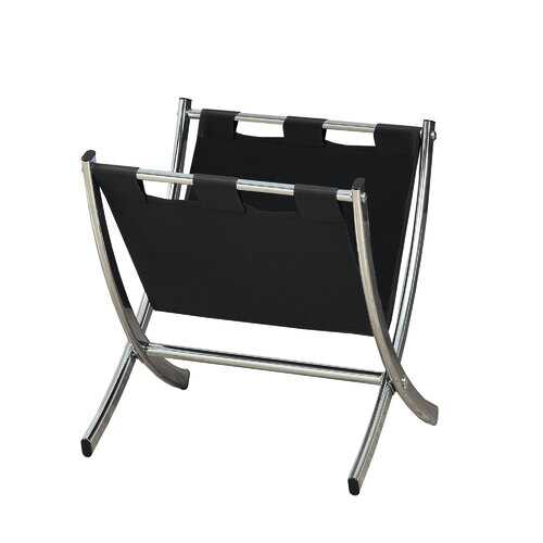 "17.75"" x 15"" x 14.5"" Black, Metal - Magazine Rack"