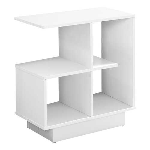 """11.5"""" x 23.5"""" x 24"""" White Particle Board Laminate  Accent Table"""