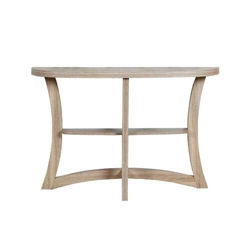 """11.5"""" x 47.25"""" x 32"""" Dark Taupe Finish Hall Console Accent Table"""