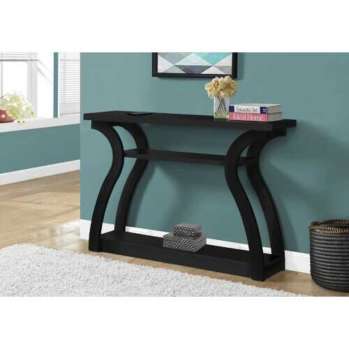 """11.5"""" x 47.25"""" x 32"""" Black Hollow Core Particle Board  Accent Table Hall Console"""
