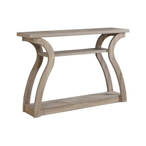 """11.5"""" x 47.25"""" x 32"""" Dark Taupe Hollow Core Particle Board Accent Table Hall Console"""