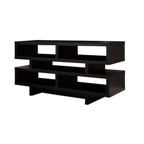 """15.5"""" x 47.25"""" x 23.75"""" Cappuccino Particle Board Hollow Core  TV Stand"""