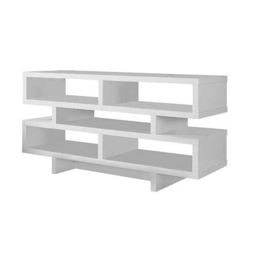 """15'.5"""" x 47'.25"""" x 23'.75"""" White, Particle Board, Hollow-Core - TV Stand"""