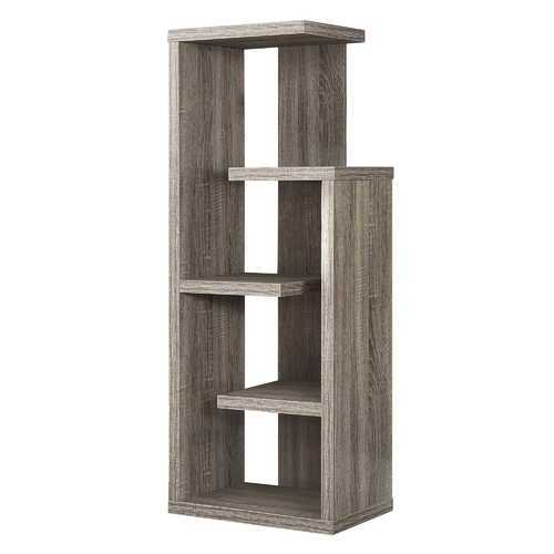 """12"""" x 18.5"""" x 47.25"""" Dark Taupe, Particle Board, Hollow-Core - Bookcase"""