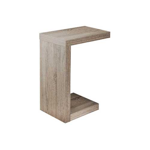 """11.5"""" x 18"""" x 24"""" Dark Taupe Hollow Core Particle Board  Accent Table"""