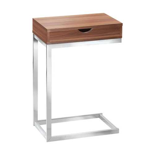 """10'.25"""" x 15'.75"""" x 24'.5"""" Walnut, Particle Board, Metal - Accent Table"""