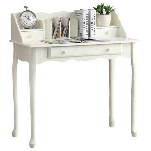"18.25"" x 36"" x 38"" Antique White - Desk"