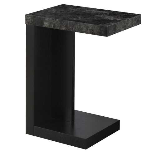 """11.5"""" x 18"""" x 24"""" Black Grey Hollow Core Particle Board  Accent Table"""