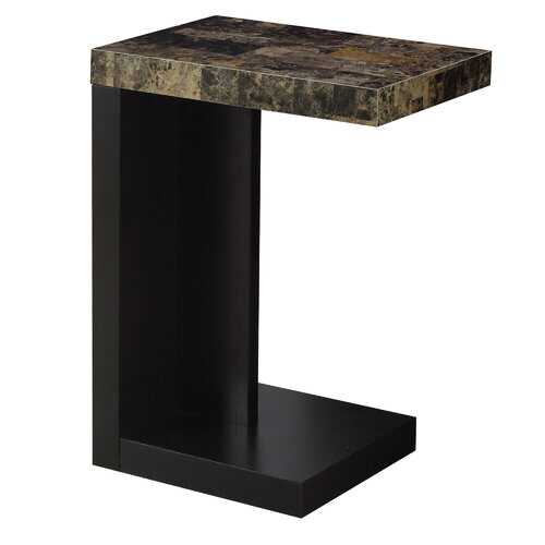 """11.5"""" x 18"""" x 24"""" Cappuccino Hollow Core Particle Board  Accent Table"""