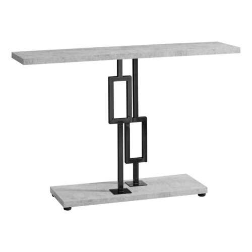"12"" x 47.25"" x 31"" Grey Cement/Black Nickel Metel - Accent Table"