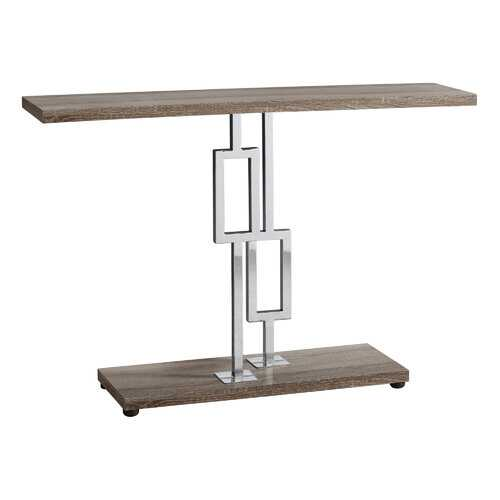 "12"" x 47.25"" x 31"" Dark Taupe/Chrome Metal - Accent Table"