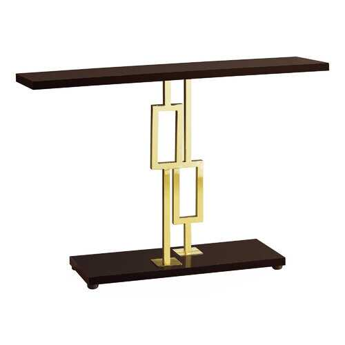 "12"" x 47.25"" x 31"" Cappuccino/Gold Metal - Accent Table"