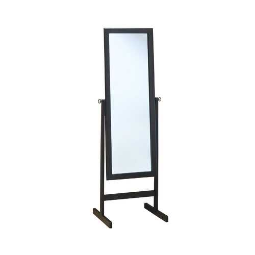 "17.5"" x 21.25"" x 60"" CappuccinoWood Frame Mirror"
