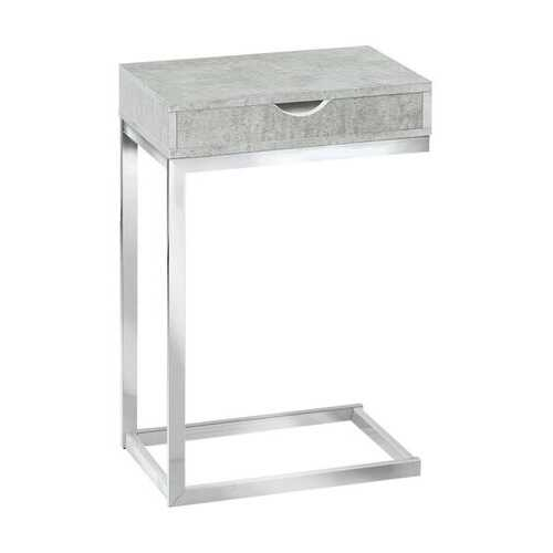"""10'.25"""" x 15'.75"""" x 24'.5"""" Grey, Particle Board, Laminate, Metal - Accent Table"""
