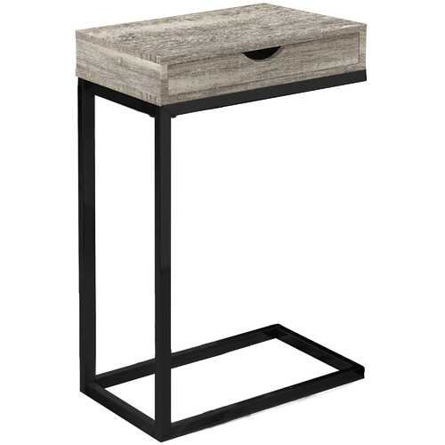 """10'.25"""" x 15'.75"""" x 24'.5"""" Taupe, Black, Particle Board, Drawer - Accent Table"""