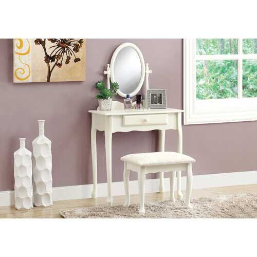 "30.5"" x 46.5"" x 68.75"" White  Particle Board Vanity Set 2pcs"
