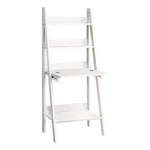 """19"""" x 25.5"""" x 61"""" White, Ladder Style - Computer Desk"""