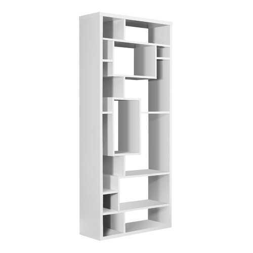 "11.75"" x 31.5"" x 72"" White, Particle Board, Hollow-Core - Bookcase"