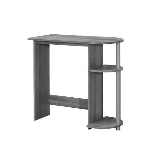 "29"" Grey Particle Board Computer Desk"