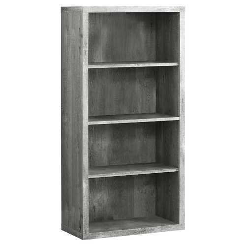 "11.75"" x 23.75"" x 47.5"" Grey, Particle Board, Adjustable Shelves - Bookshelf"