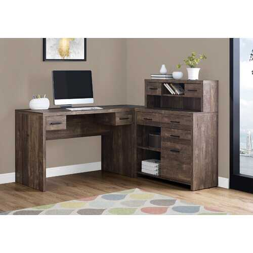"""44.75"""" Reclaimed Wood Particle Board, Laminate and MDF Computer Desk"""