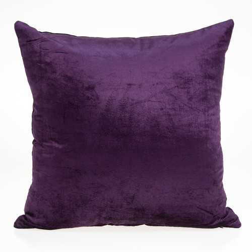 "18"" x 0.5"" x 18"" Transitional Purple Solid Pillow Cover"