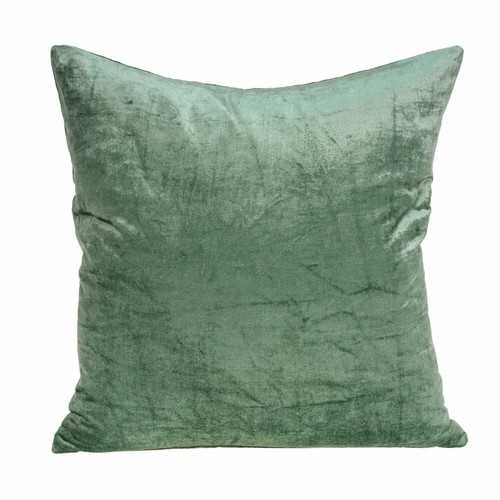 "18"" x 0.5"" x 18"" Transitional Green Solid Pillow Cover"