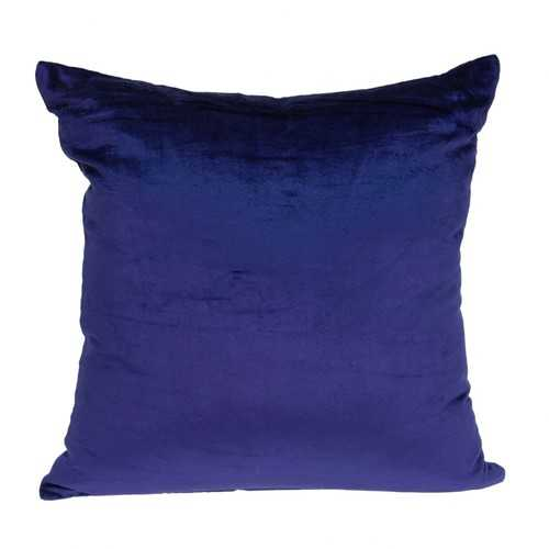 "18"" x 0.5"" x 18"" Transitional Royal Blue Solid Pillow Cover"