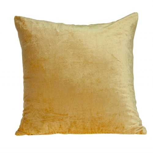 "18"" x 0.5"" x 18"" Transitional Yellow Solid Pillow Cover"