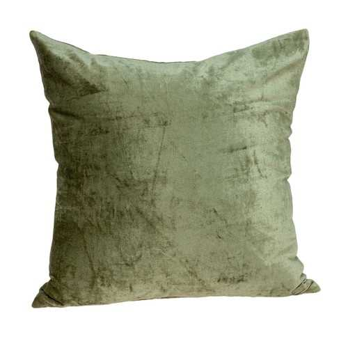 "18"" x 0.5"" x 18"" Transitional Olive Solid Pillow Cover"