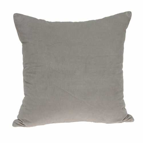 "18"" x 0.5"" x 18"" Transitional Gray Solid Pillow Cover"