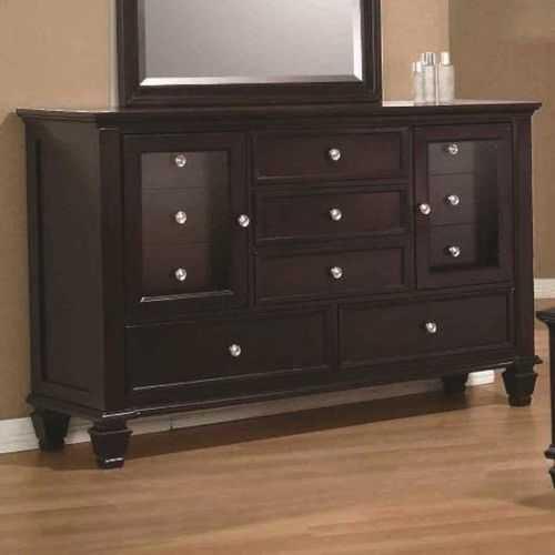 Wooden Dresser, Cappuccino Brown