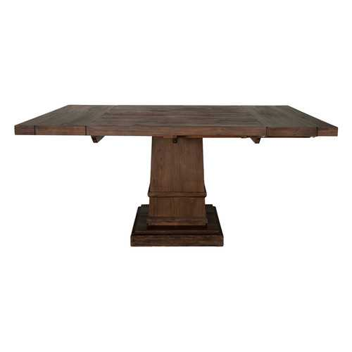 Wooden Square Extension Dining Table, Dark Brown
