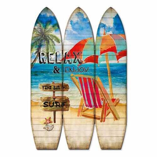"47""x1""x71"" Multicolor Surfboard Screen"