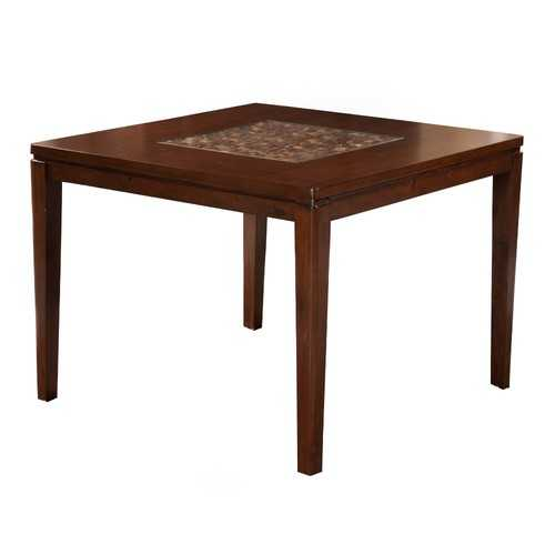 Wooden Pub Table In Transitional Style, Brown